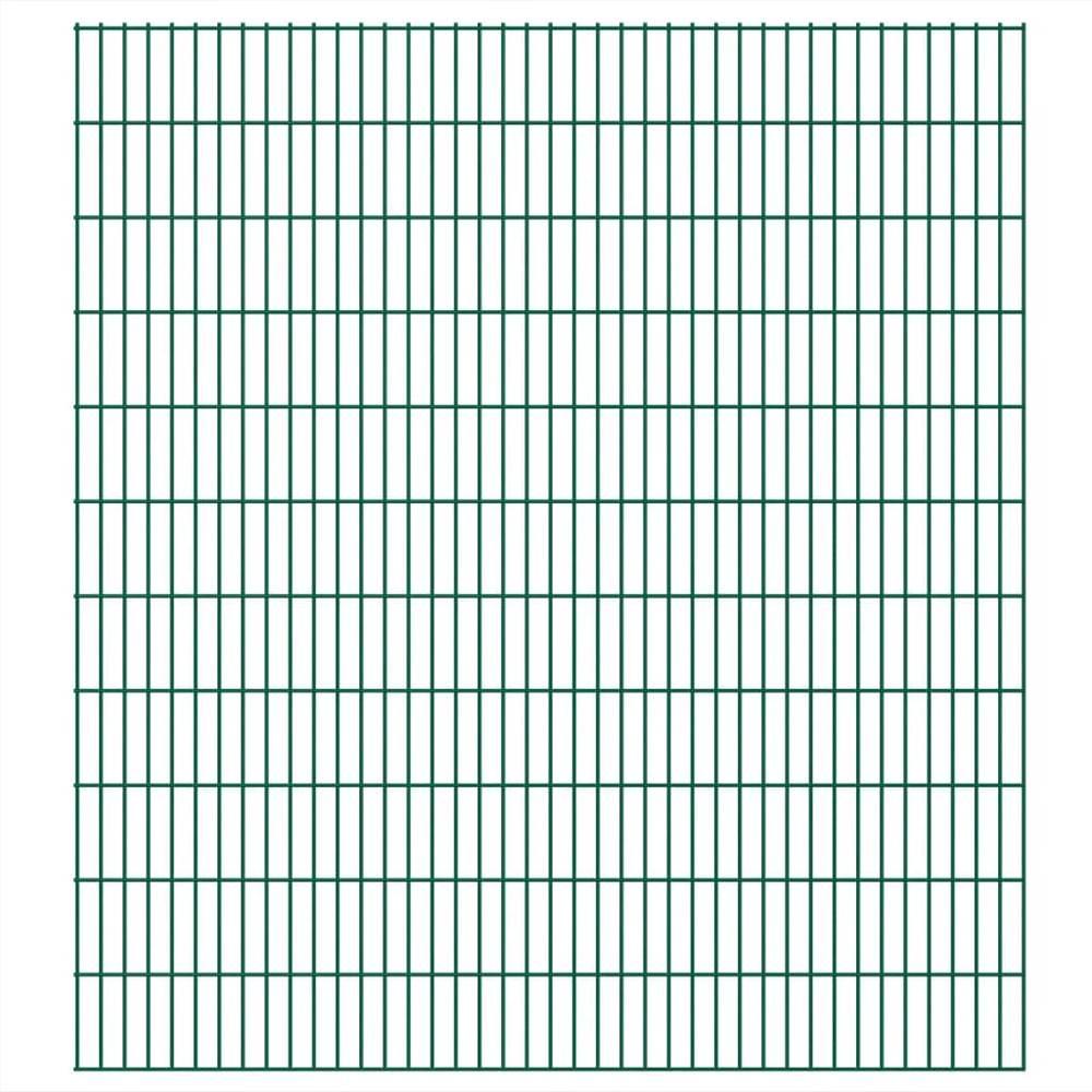 2D Garden Fence Panels 2.008x2.23 m 50 m (Total Length) Green