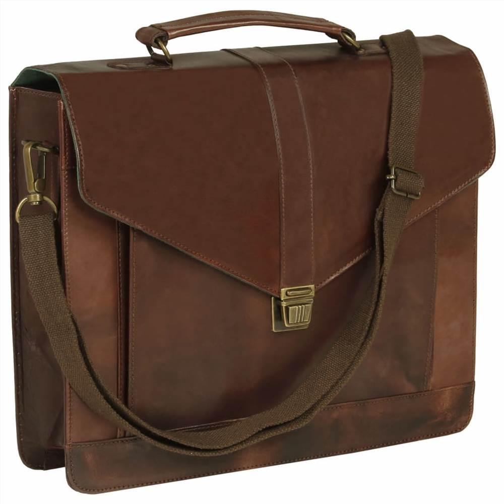 Χαρτοφύλακας Real Leather Brown