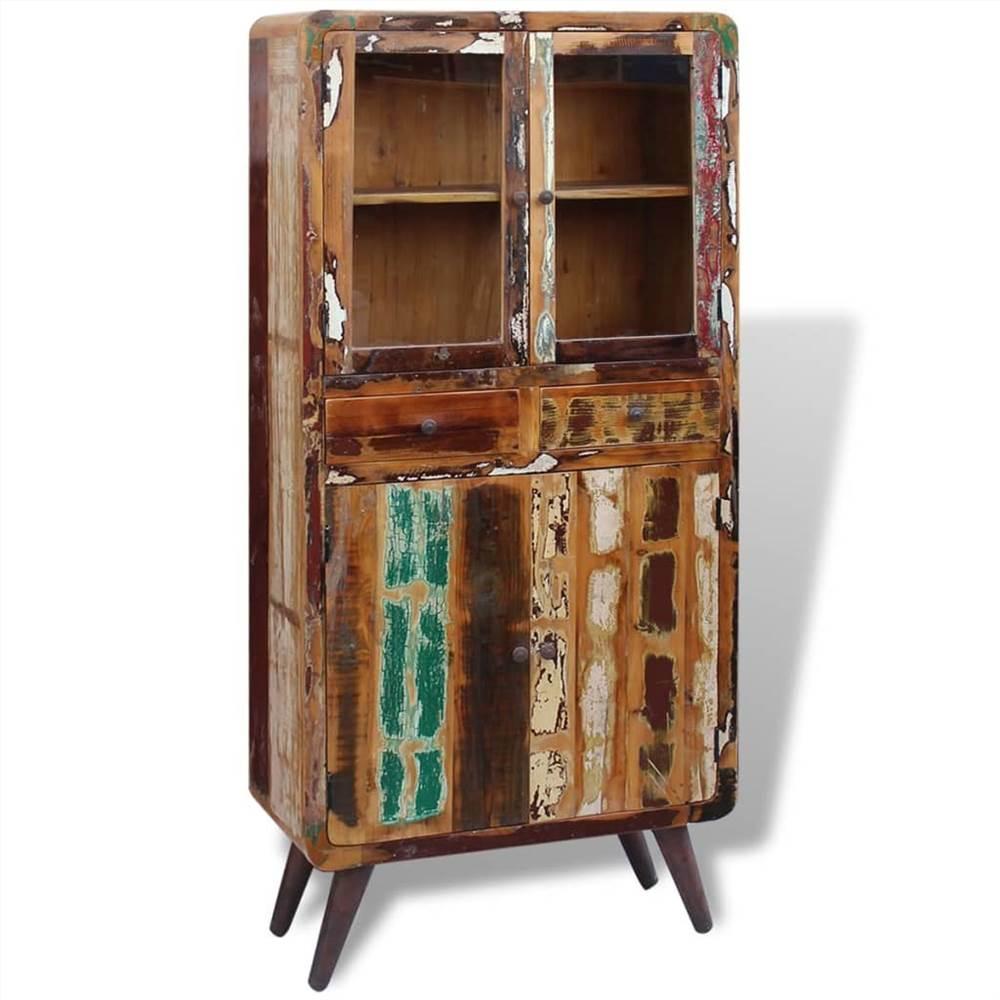 Armário de madeira maciça recuperada 90x40x190 cm