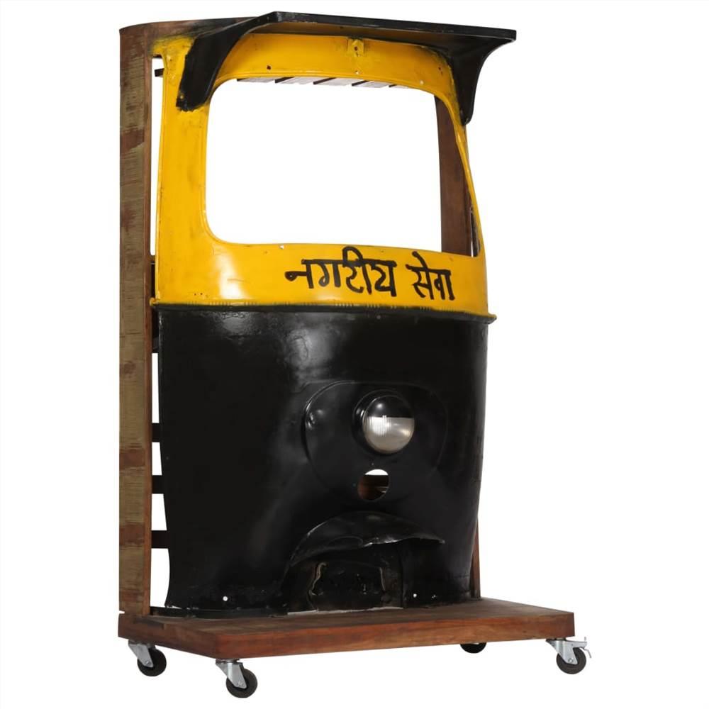 Gabinete para vinho Rickshaw 100x60x172 cm Madeira maciça recuperada