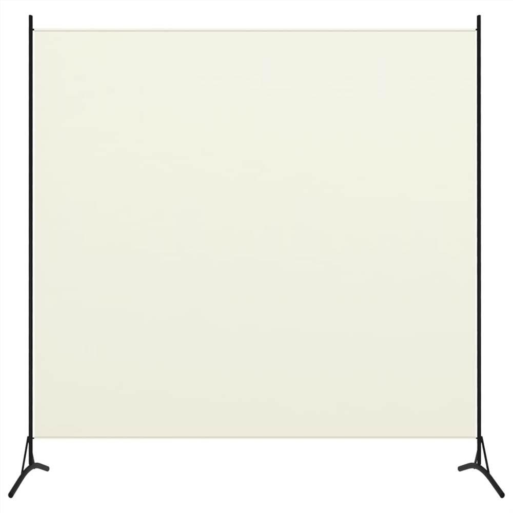 Séparateur de pièce à 1 panneaux blanc crème 175x180 cm