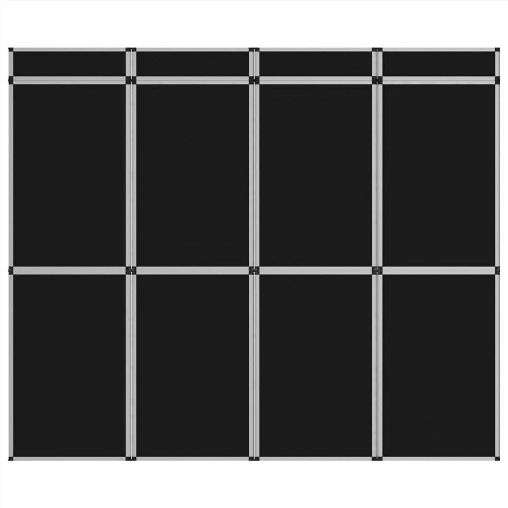 Mur d'affichage d'exposition pliable à 12 panneaux 242x200 cm Noir