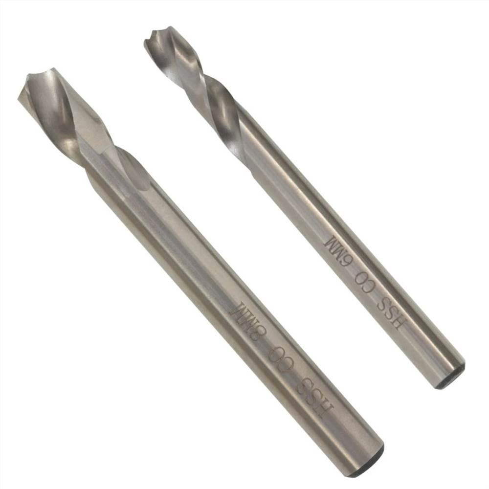 Jeu de 2 forets à souder par points 6/8 mm HSS-Cobalt