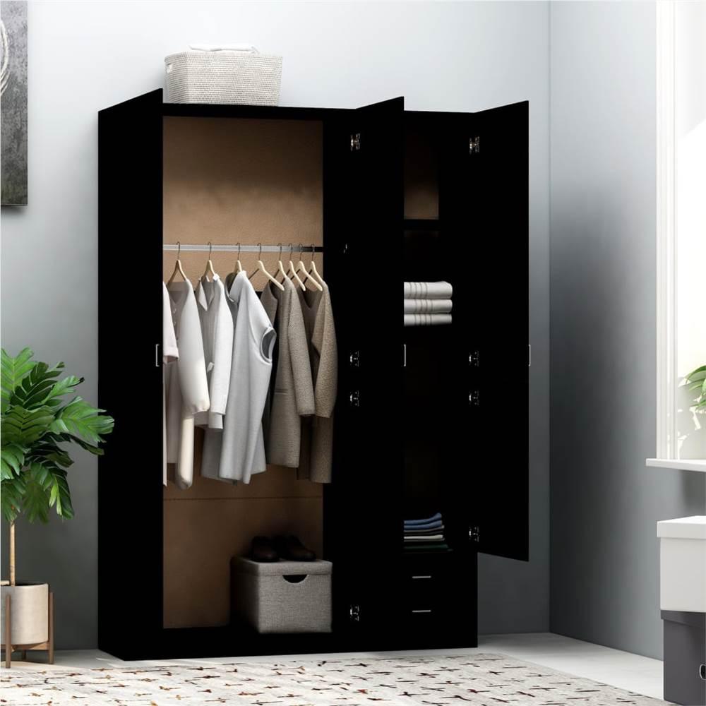Шкаф 3-дверный Черный 120х50х180 см ДСП