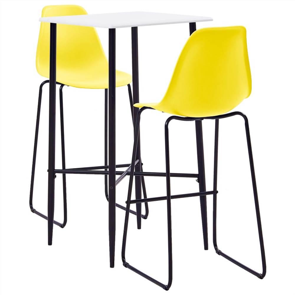 Ensemble de 3 barres en plastique jaune