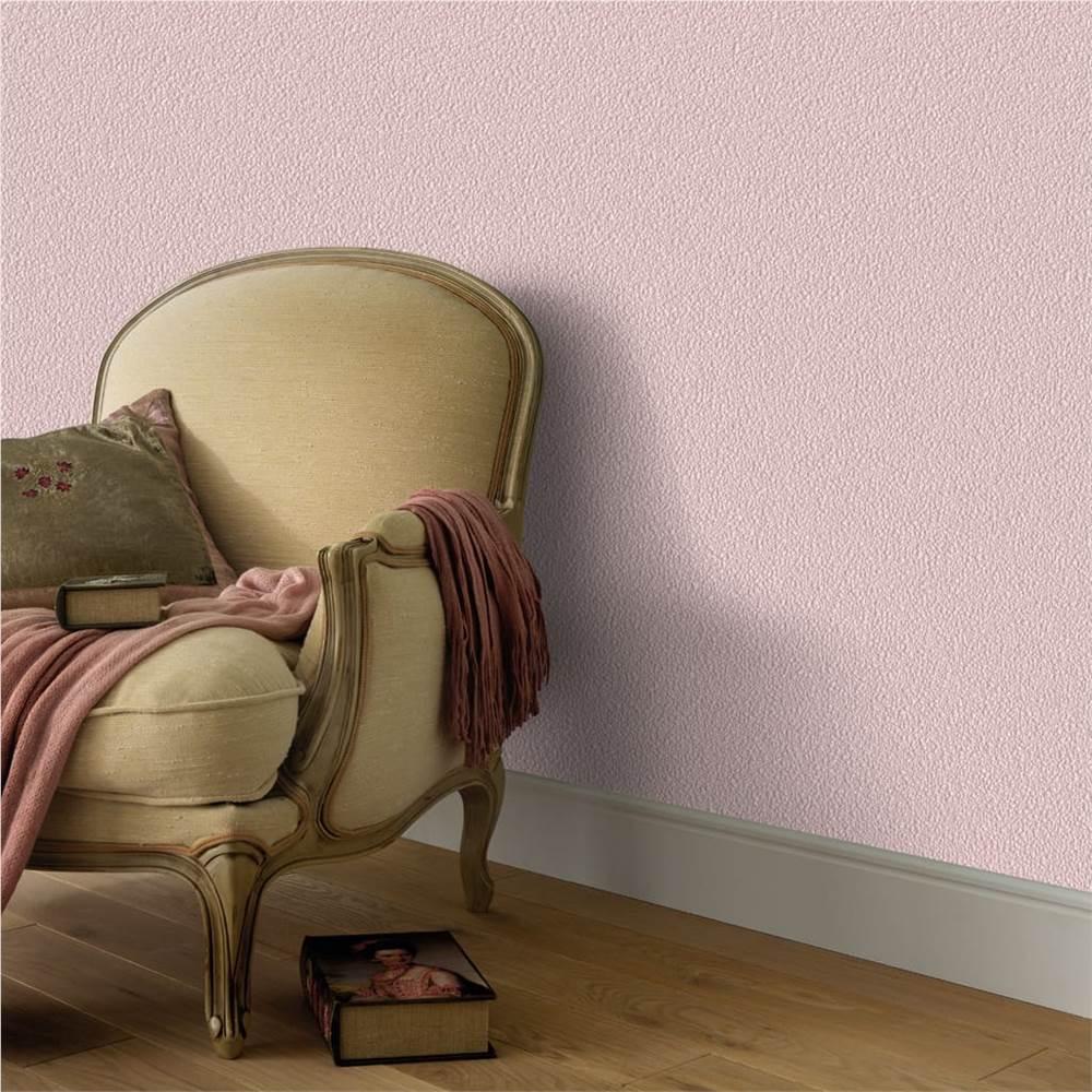 4 pcs rolos de papel de parede não tecido liso rosa brilhante 0.53 x 10 m