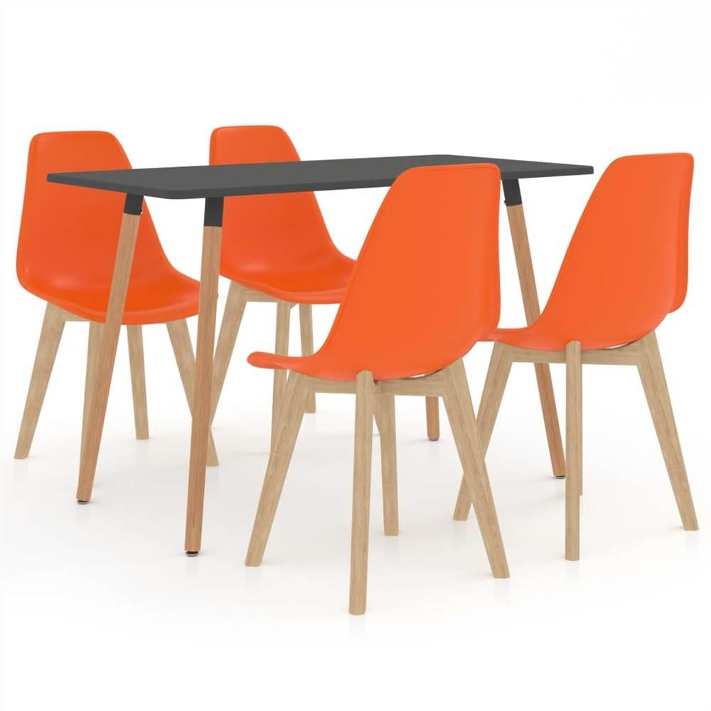 Ensemble de salle à manger 5 pièces orange