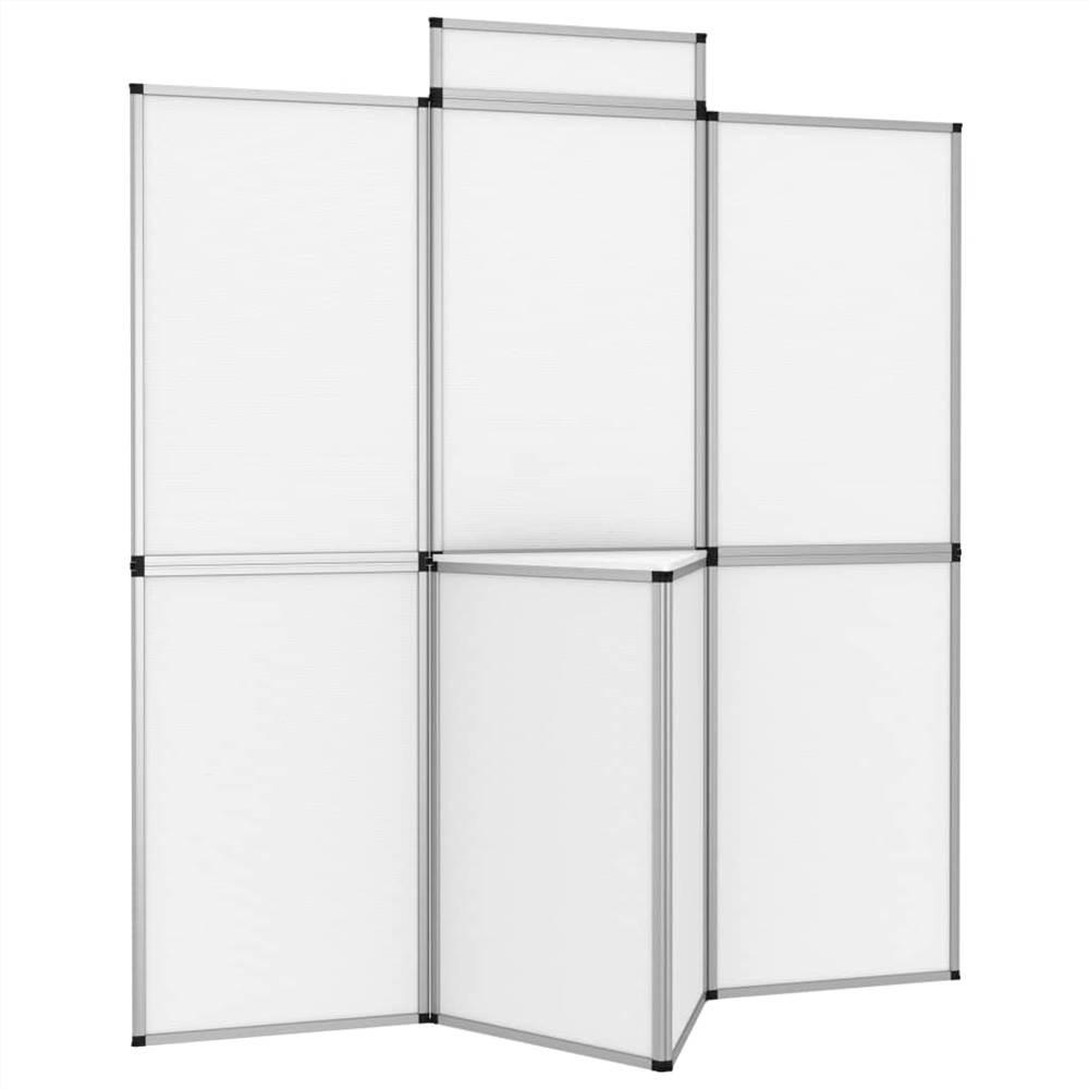 Mur d'affichage d'exposition pliable à 8 panneaux 181x200 cm Blanc