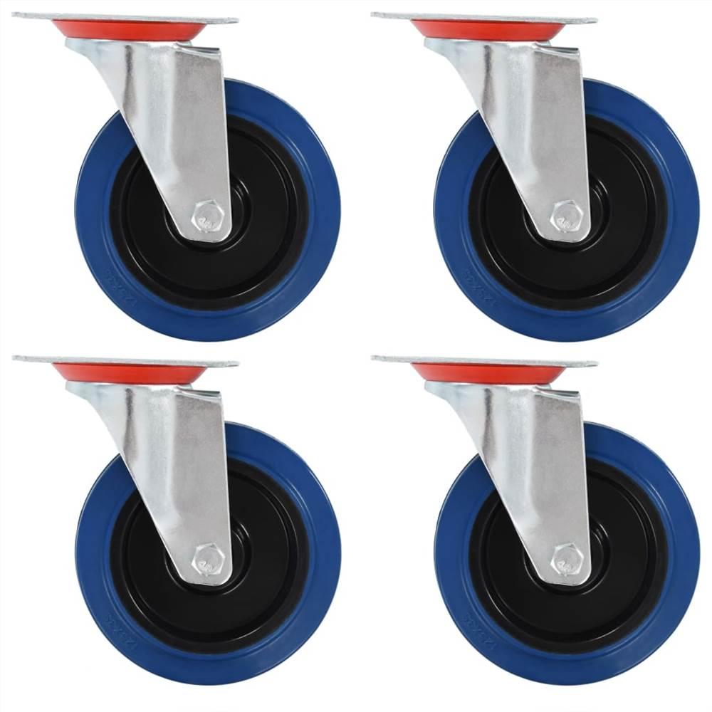 8 roulettes pivotantes 125 mm