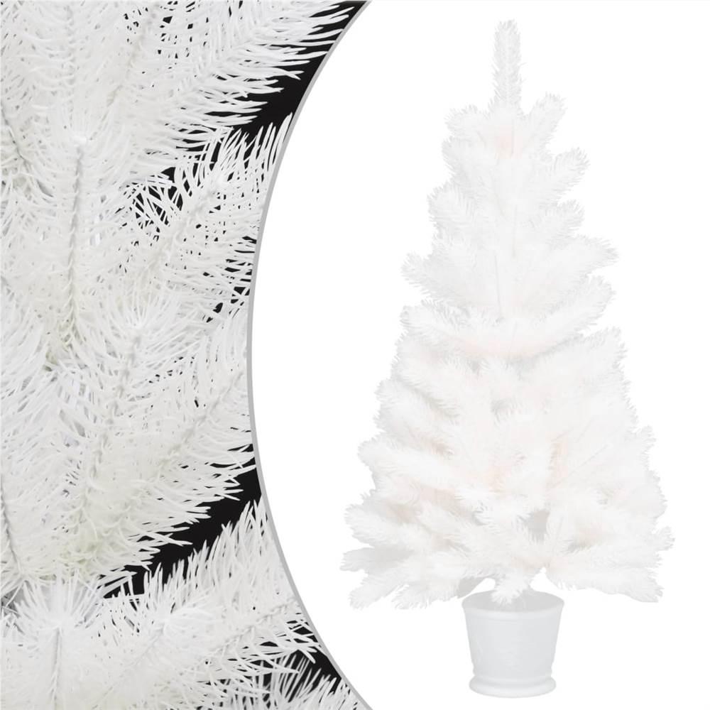 Aiguilles réalistes pour sapin de Noël artificiel blanc 65 cm