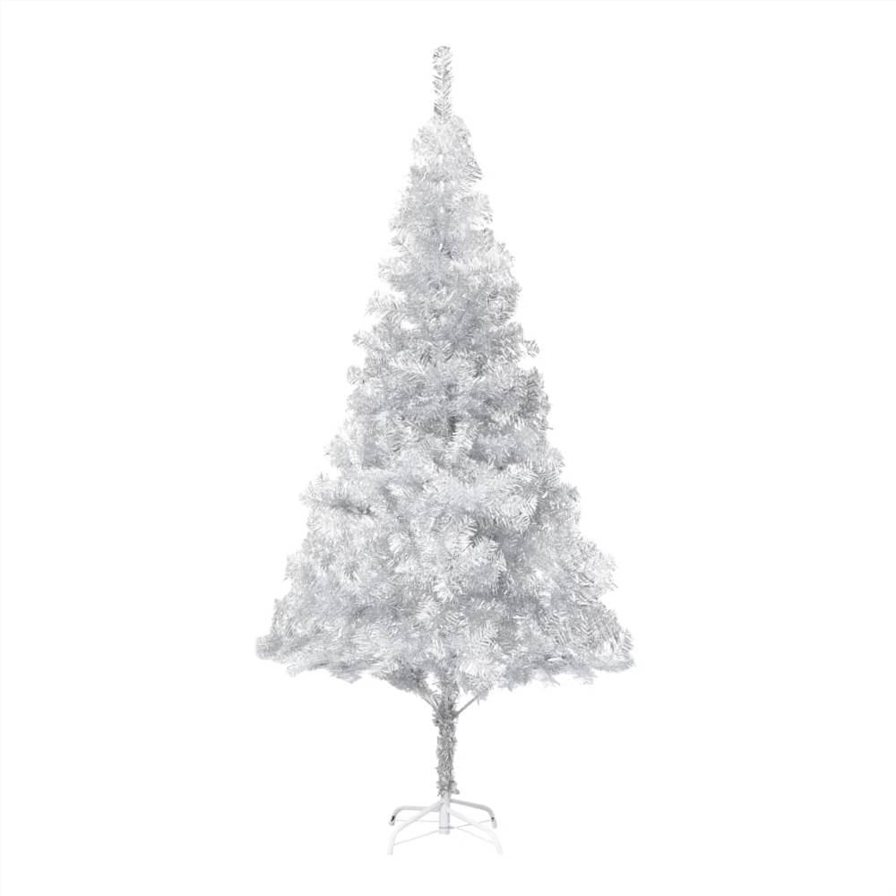 Künstlicher Weihnachtsbaum mit Ständer Silber 210 cm PET