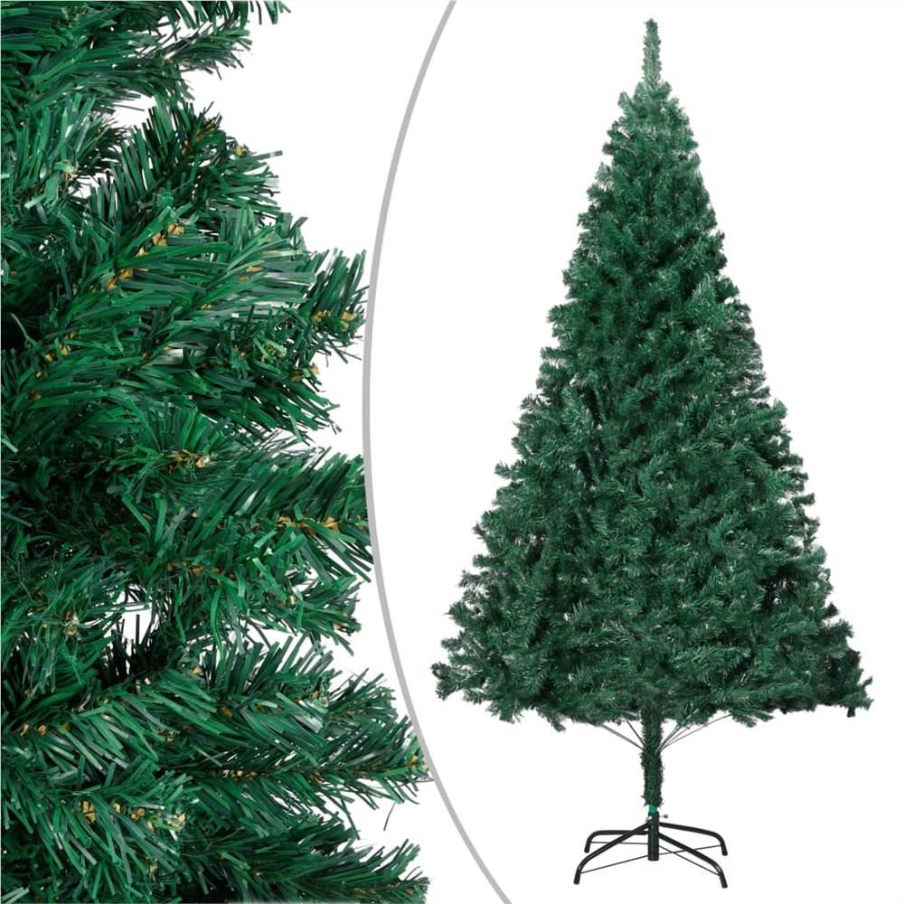 Künstlicher Weihnachtsbaum mit dicken Zweigen Grün 240 cm PVC