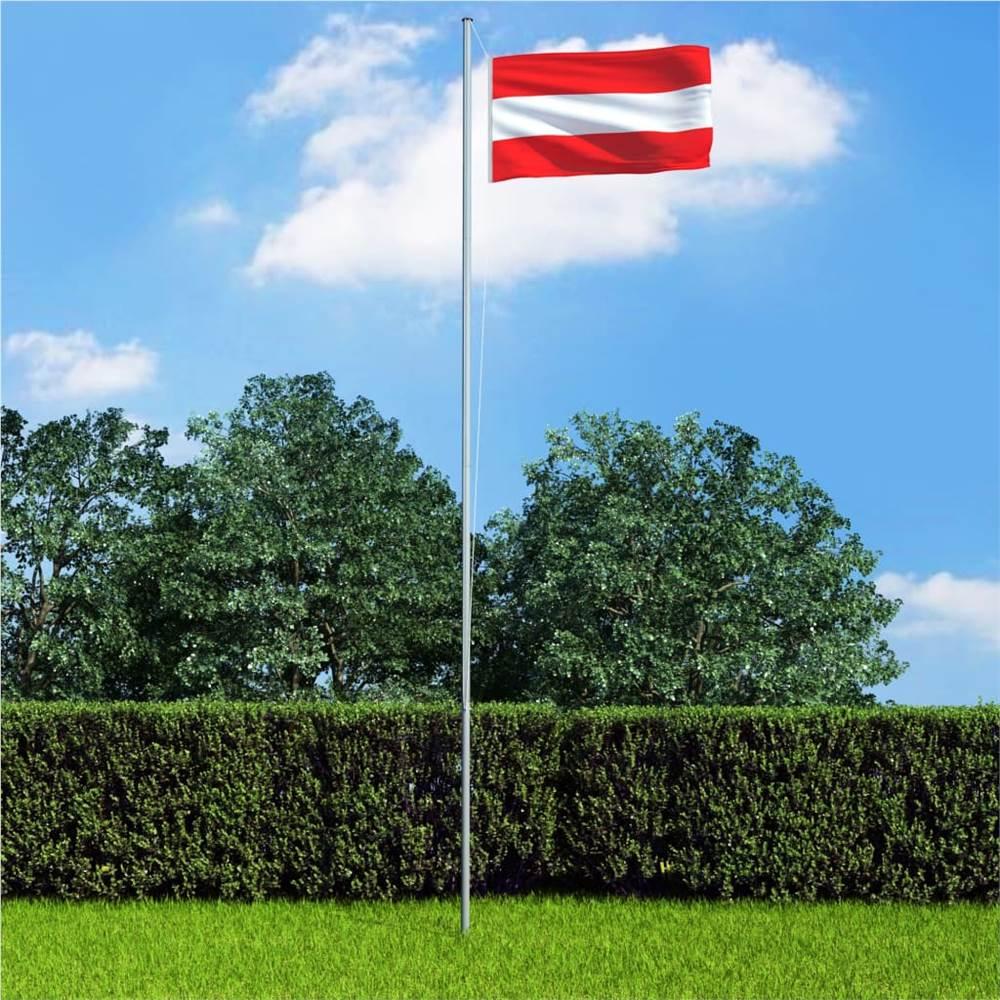 Österreich Flagge und Mast Aluminium 6,2 m