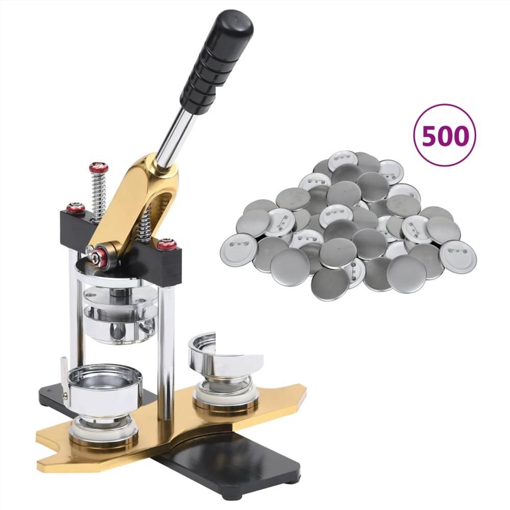 Fabricant de badges avec 500 pièces de bouton Pinback Poinçon de rotation de 25 mm