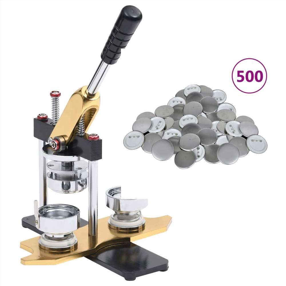 Fabricant de badges avec 500 pièces de bouton Pinback Poinçon de rotation de 37 mm