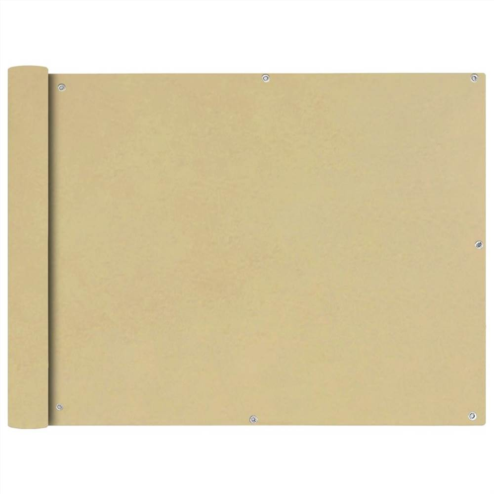 Paravent en tissu Oxford 90x400 cm Beige