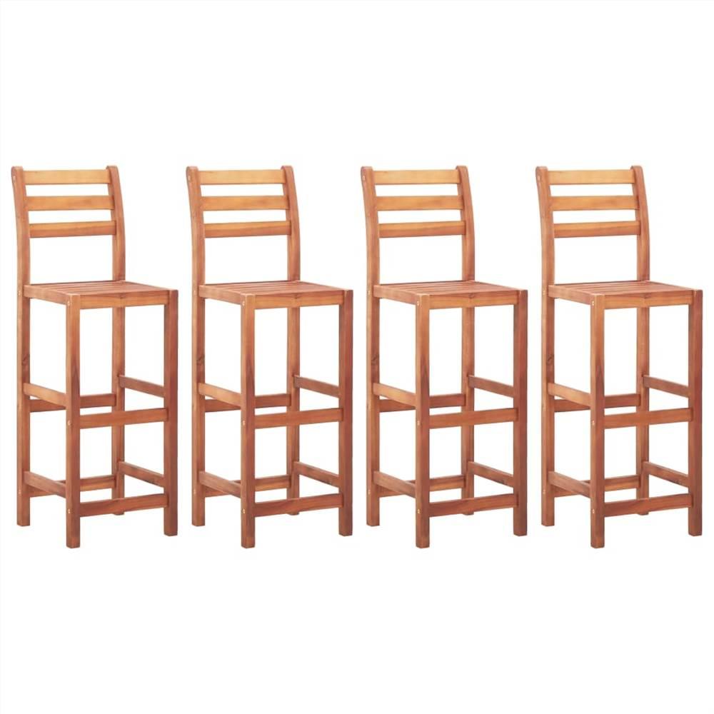 Bar Chairs 4 pcs Solid Acacia Wood