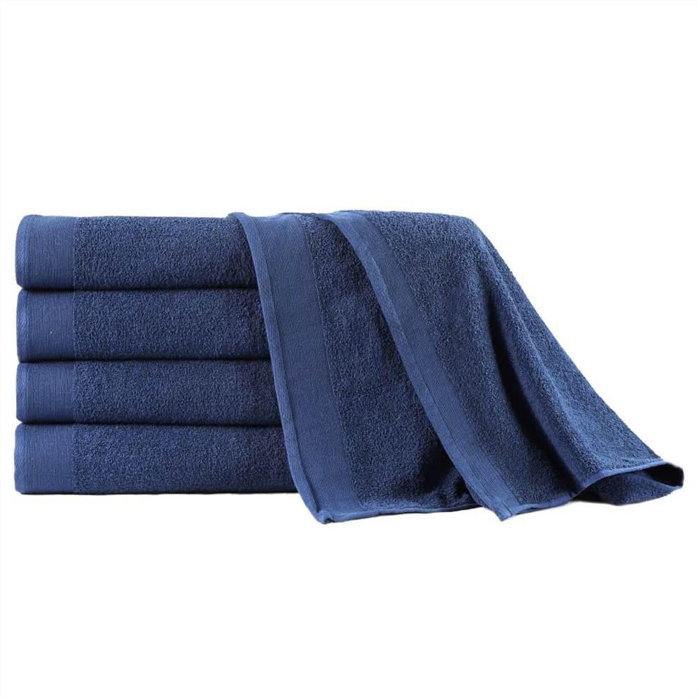 Набор банных полотенец из 5 предметов Хлопок 450 г / м100 150xXNUMX см Темно-синий