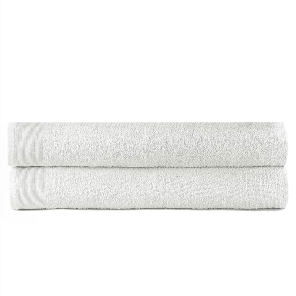 Банные полотенца 2 шт Хлопок 450 г / м100 150xXNUMX см Белый