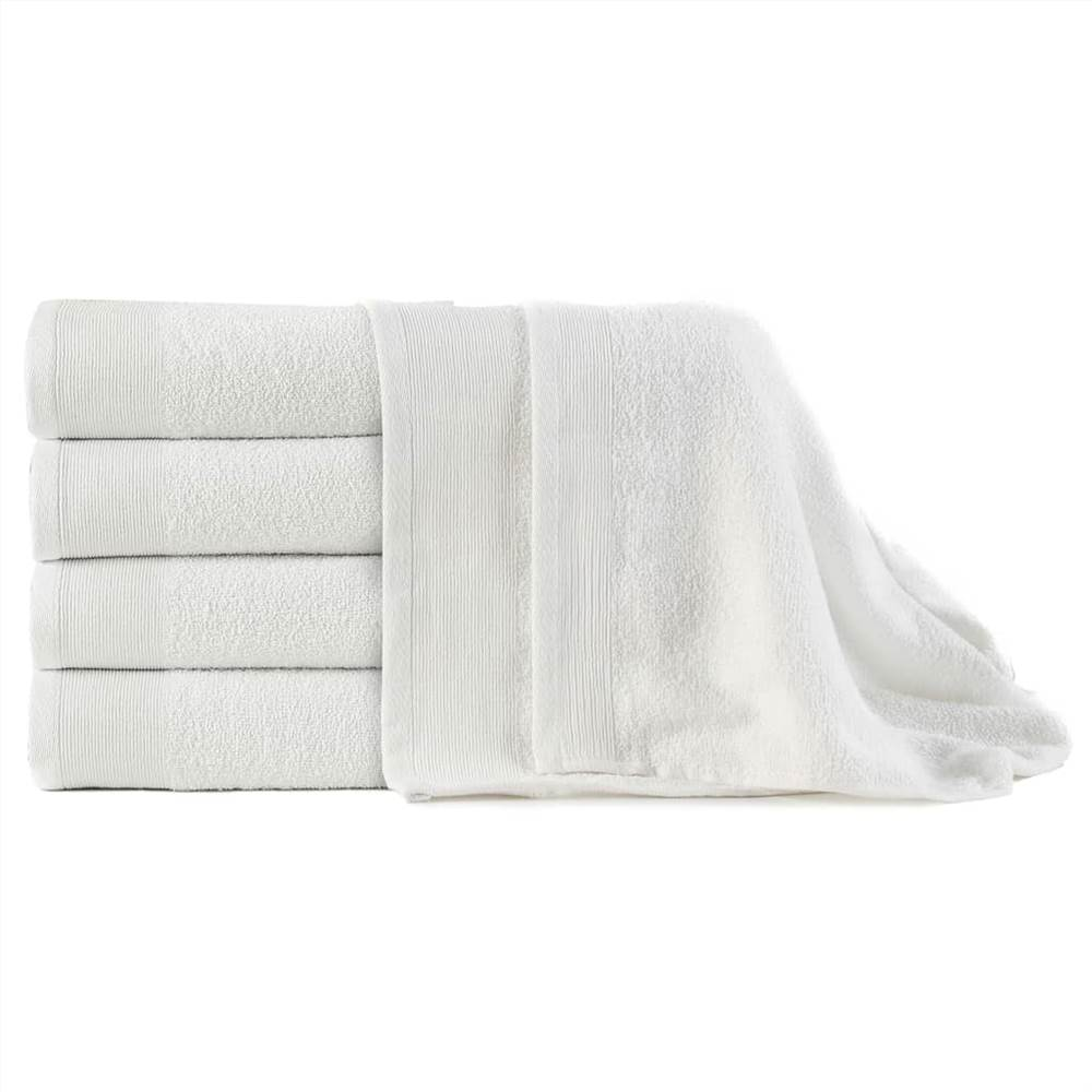 Банные полотенца 5 шт Хлопок 450 г / м100 150xXNUMX см Белый