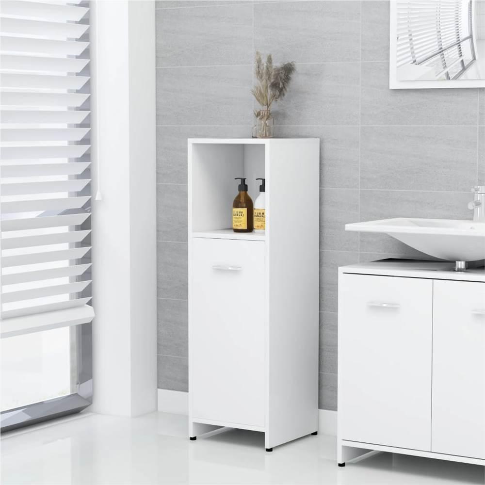 Meuble de salle de bain blanc 30x30x95 cm aggloméré