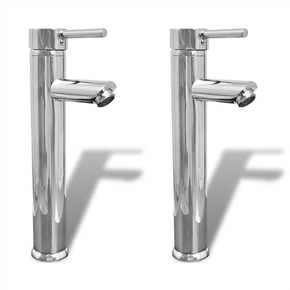 Bathroom Faucet Mixer Taps 2 pcs Chrome
