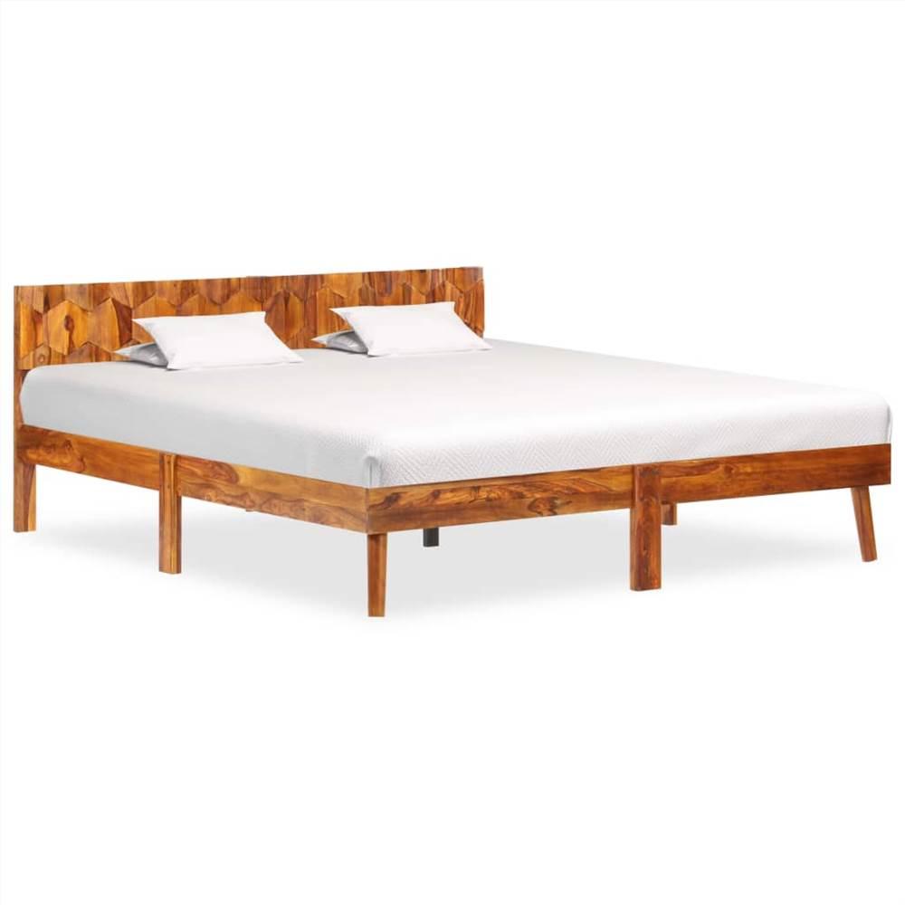 Bed Frame Solid Sheesham Wood 160x200 cm