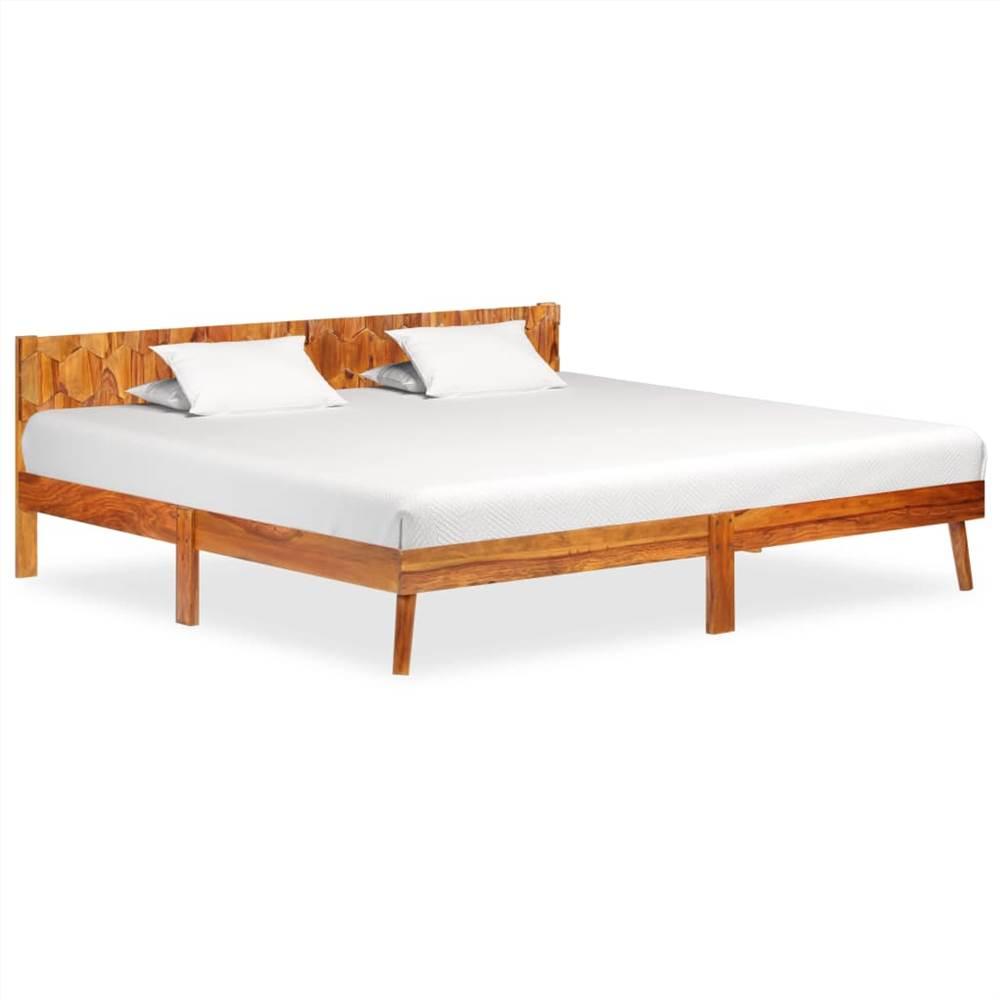 Bed Frame Solid Sheesham Wood 200x200 cm