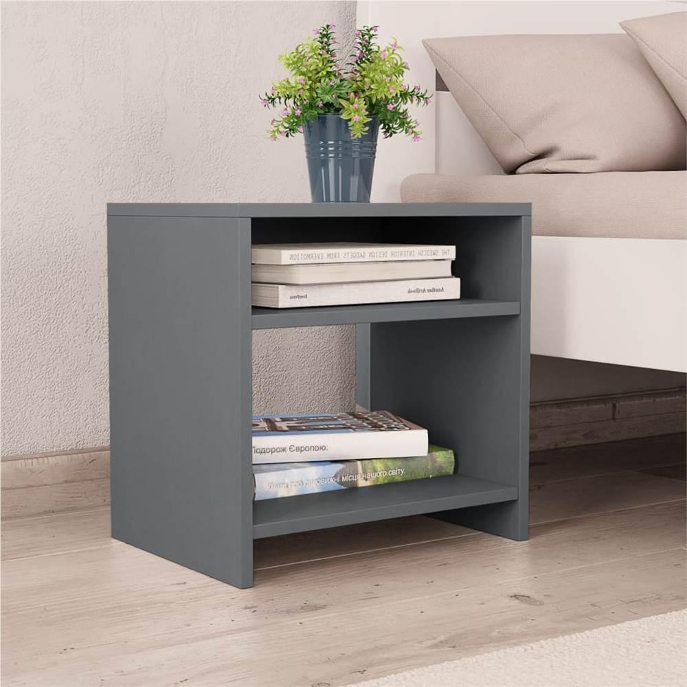 Nachttischschrank Grau 40x30x40 cm Spanplatte