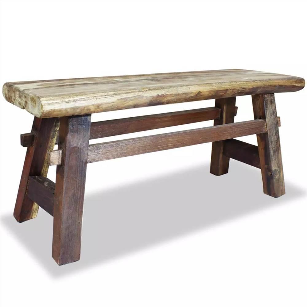 Banc en bois de récupération massif 100x28x43 cm
