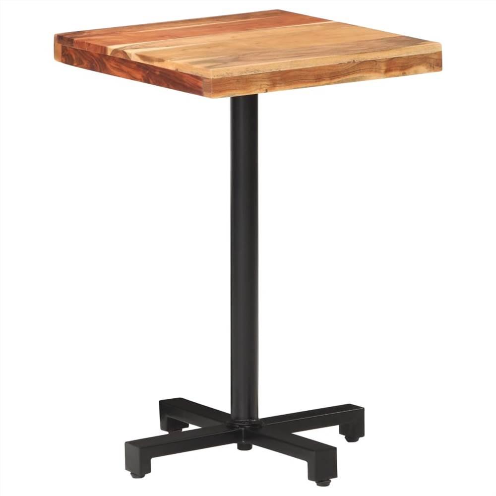 Table de bistrot carrée 50x50x75 cm Bois d'acacia massif