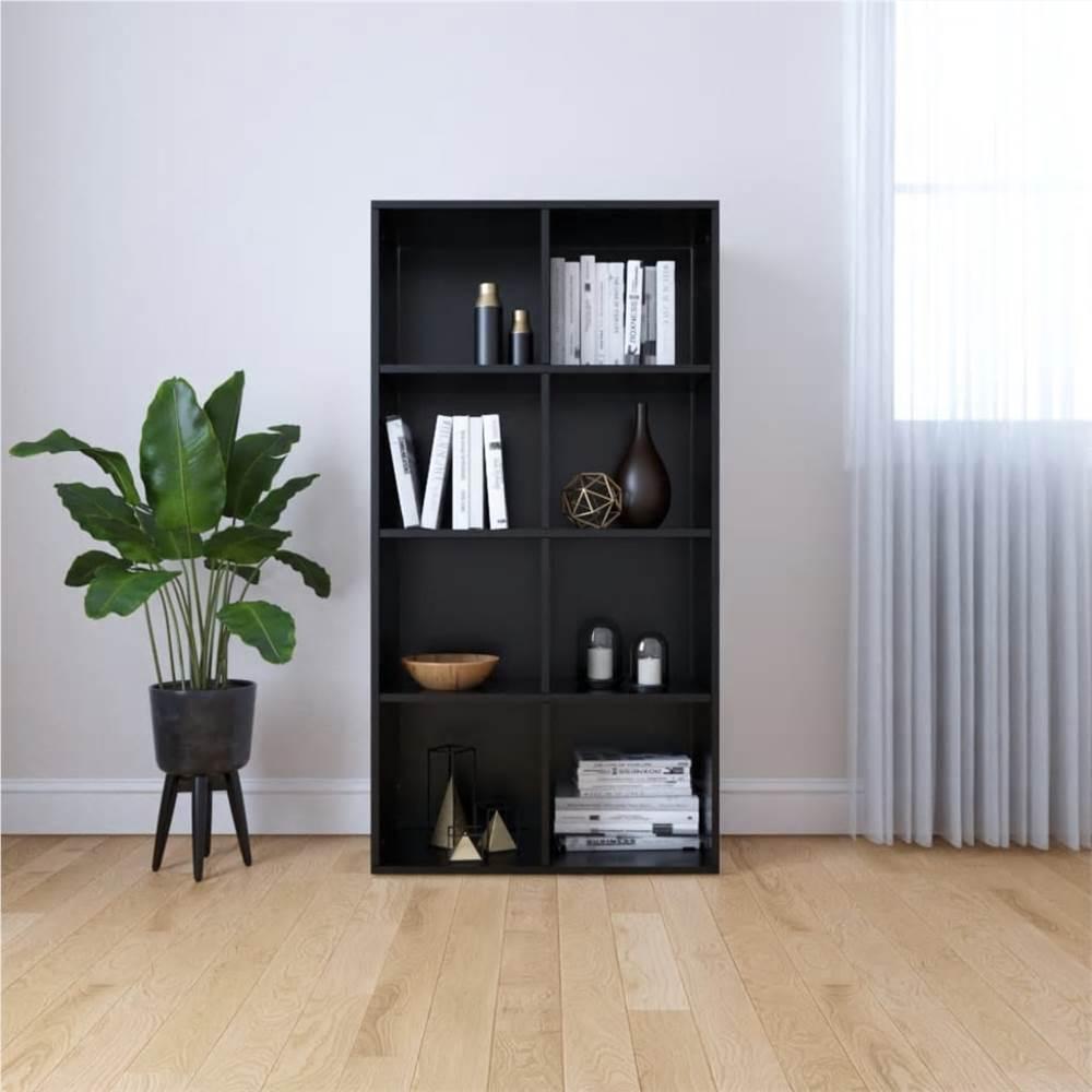 Book Cabinet/Sideboard Black 66x30x130 cm Chipboard