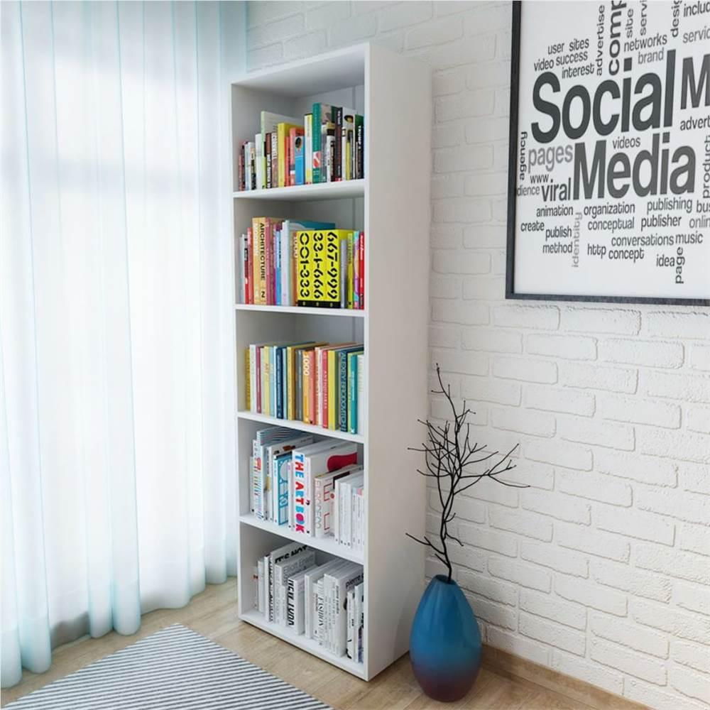 Bookshelf Chipboard 60x31x190 cm White