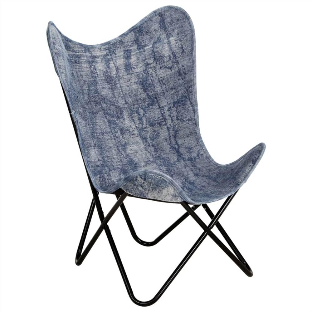 Butterfly Chair Indigo Blue Canvas