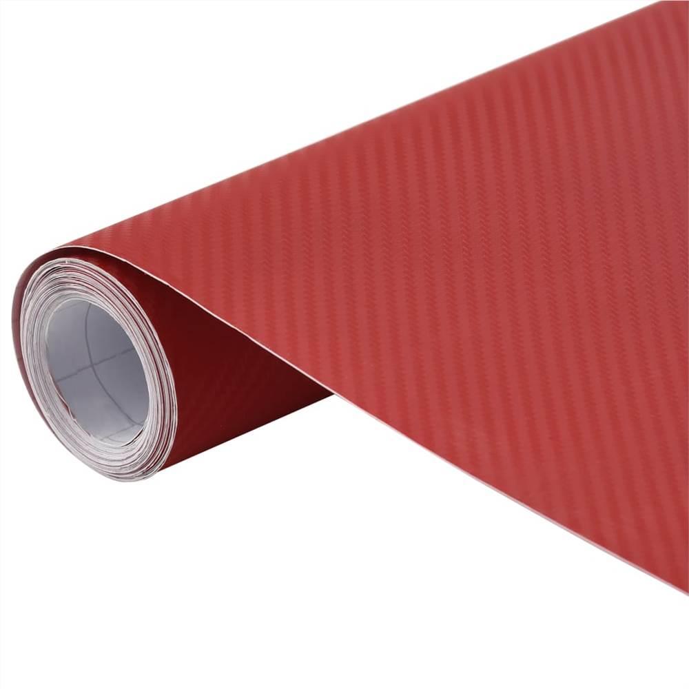 Pellicola auto opaca 3D rossa 200x152 cm