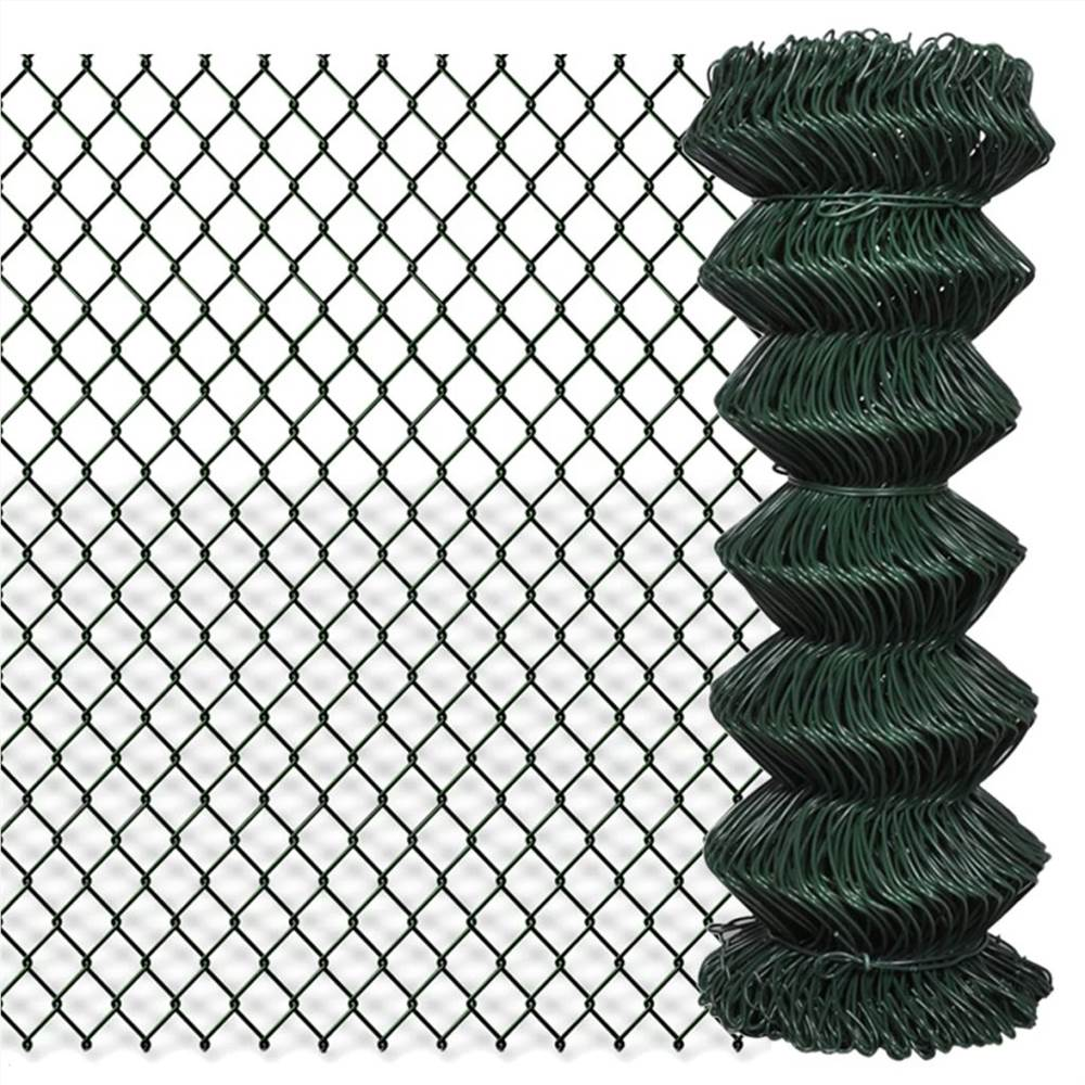 Chain Link Fence Steel 1x25 m Green