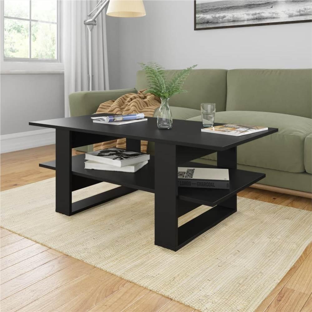 Coffee Table Black 110x55x42 cm Chipboard