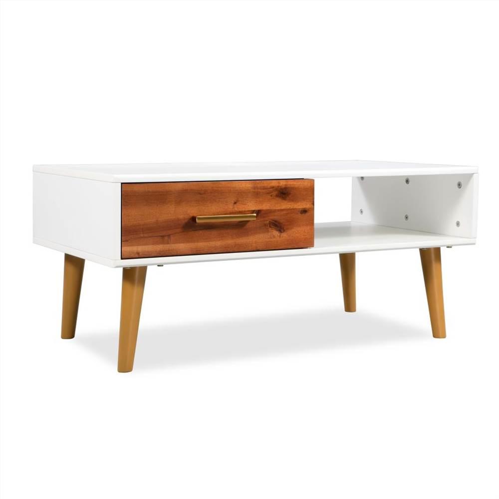 Coffee Table Solid Acacia Wood 90x50x40 cm