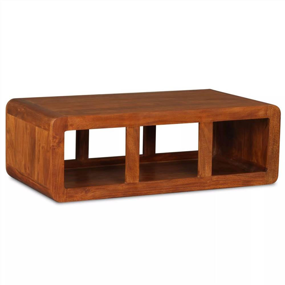 Coffee Table Solid Wood with Sheesham Finish 90x50x30 cm