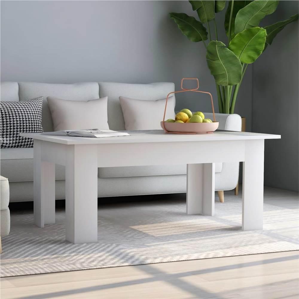 Couchtisch Weiß 100x60x42 cm Spanplatte