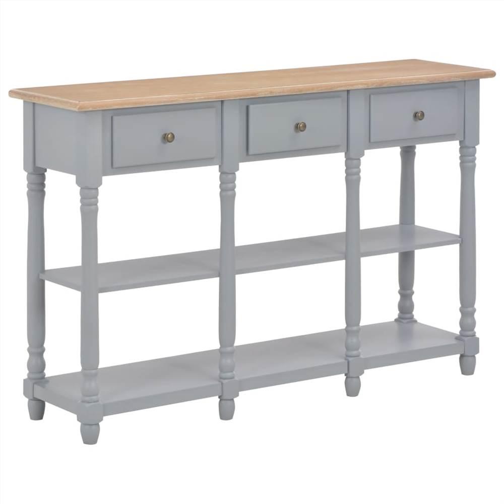 Console Table Grey 120x30x76 cm MDF