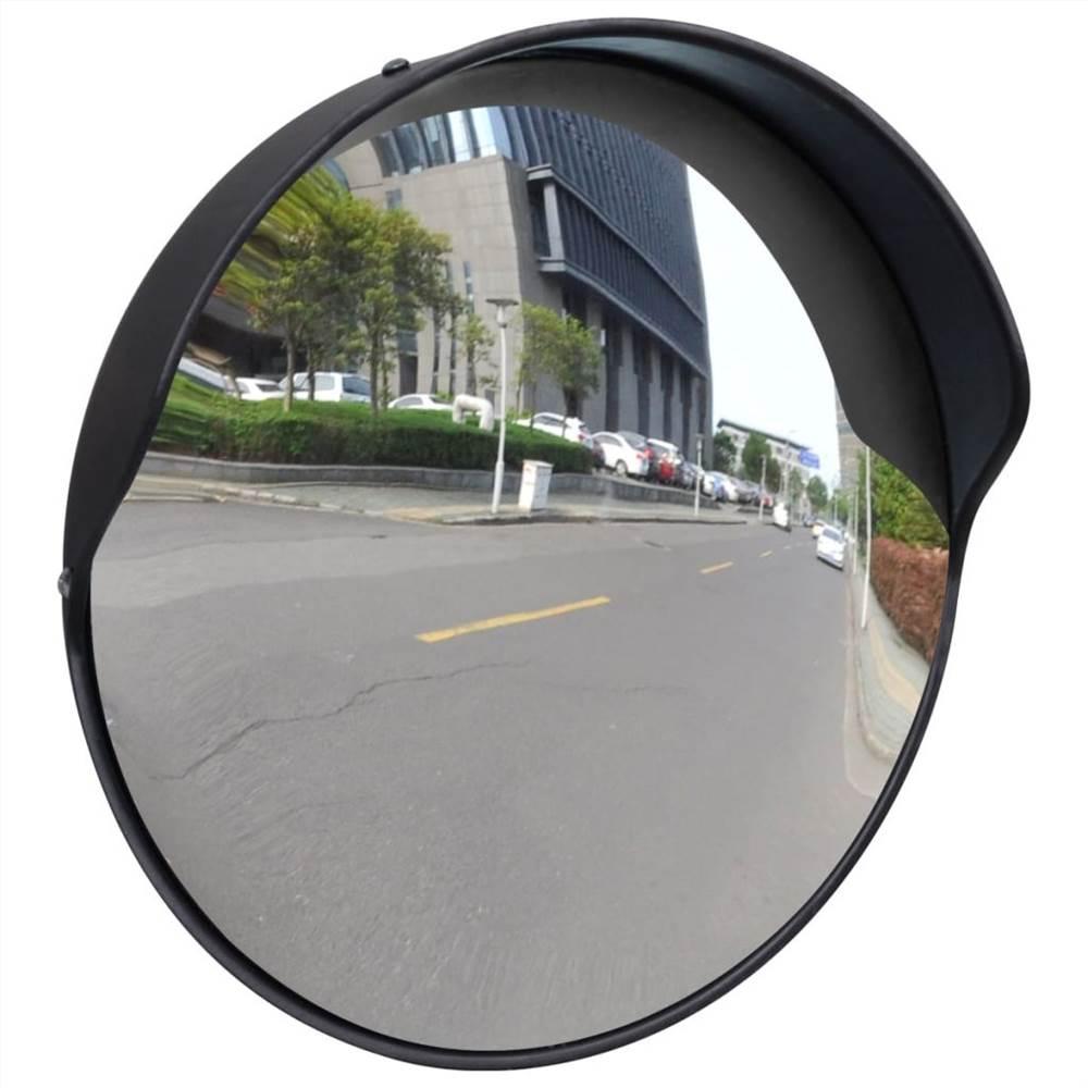 Miroir Circulation Convexe PC Plastique Noir 30 cm Extérieur