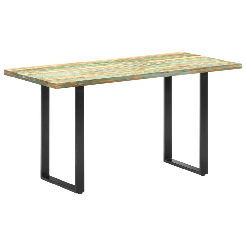 Dining Table 140x70x76 cm Solid Reclaimed Wood