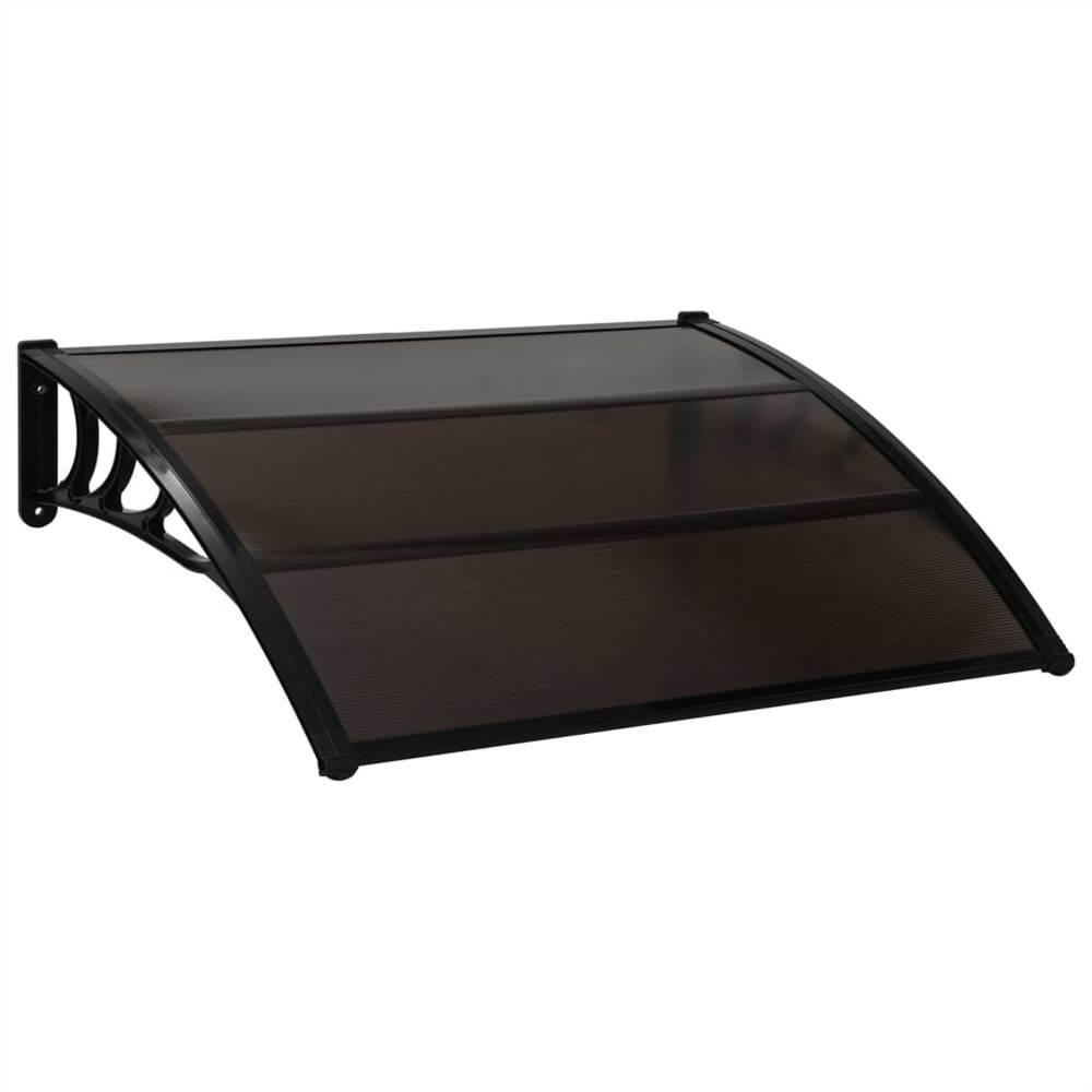 Door Canopy Black 120x100 cm PC