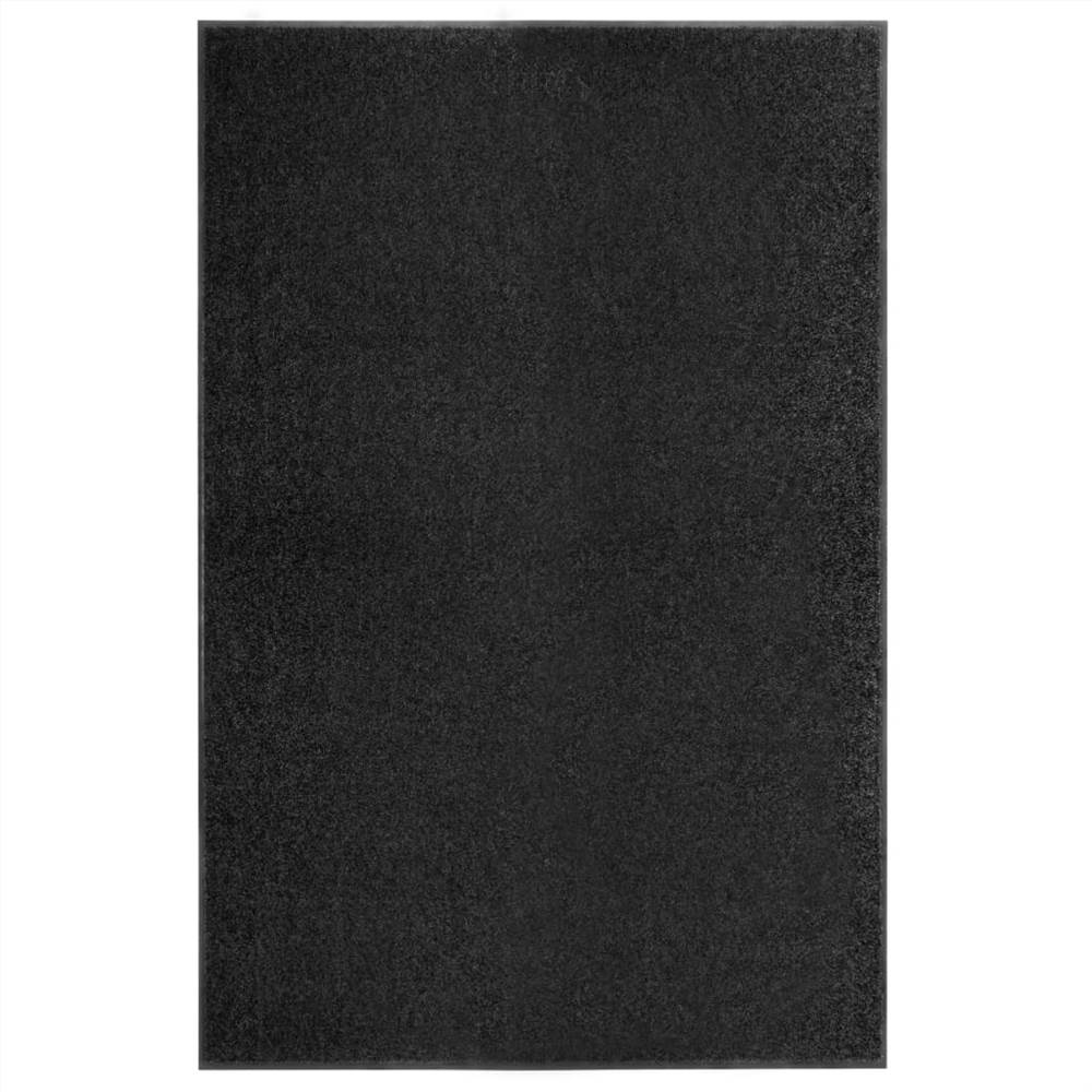 Paillasson Lavable Noir 120x180 cm