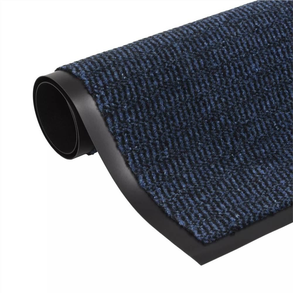 Tapis Antipoussière Rectangulaire Tufté 120x180 cm Bleu