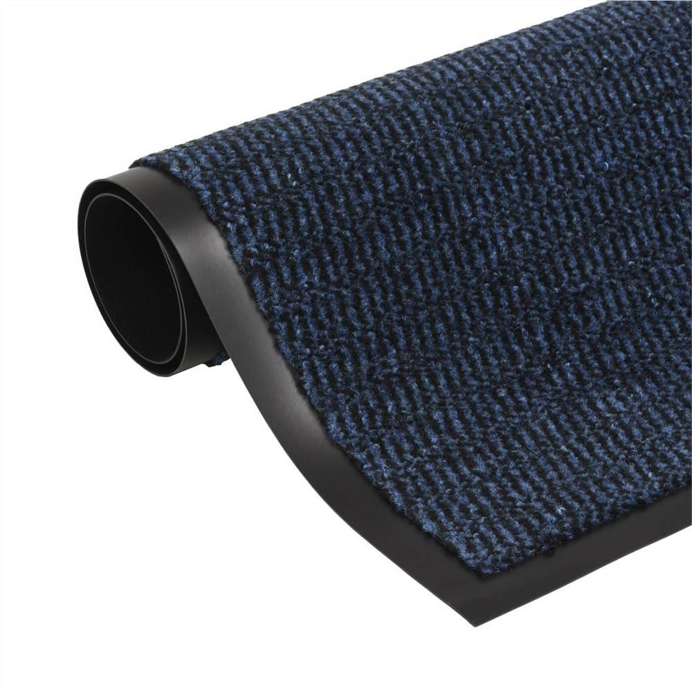 Tapis Antipoussière Rectangulaire Tufté 60x90 cm Bleu