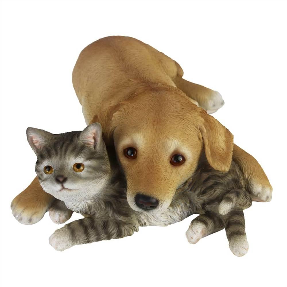 Esschert Design Cão e Gato Deitado 30,5x40,8x12,5cm