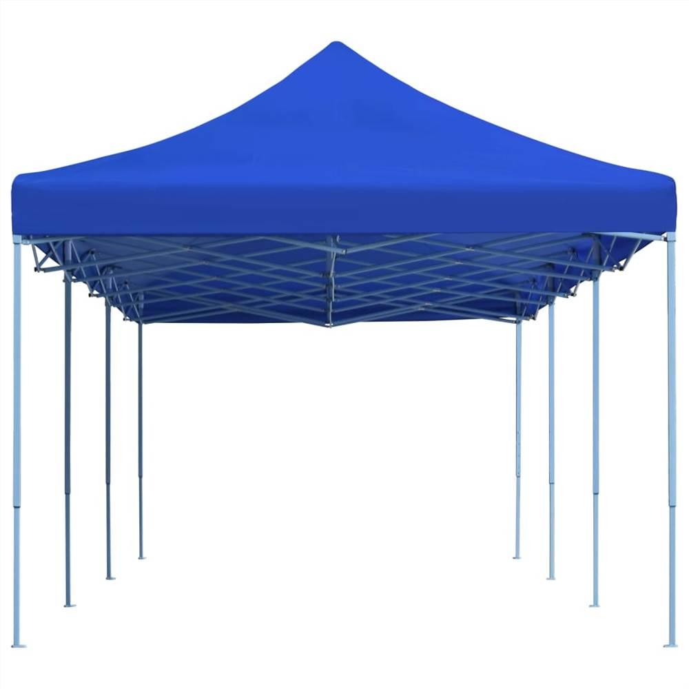 Folding Pop-up Party Tent 3x9 m Blue
