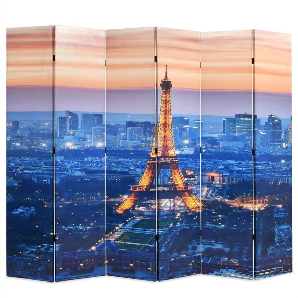 Cloison pliante 228x170 cm Paris by Night